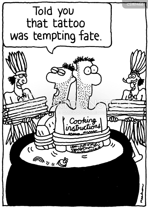 tempting fate cartoon