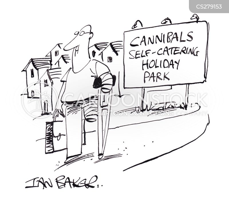 self-catering holiday cartoon