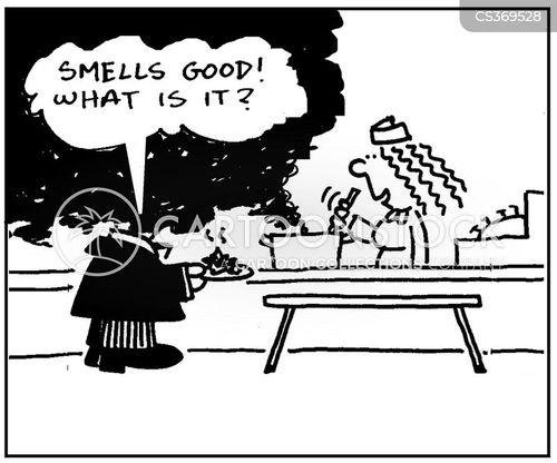canteen food cartoon