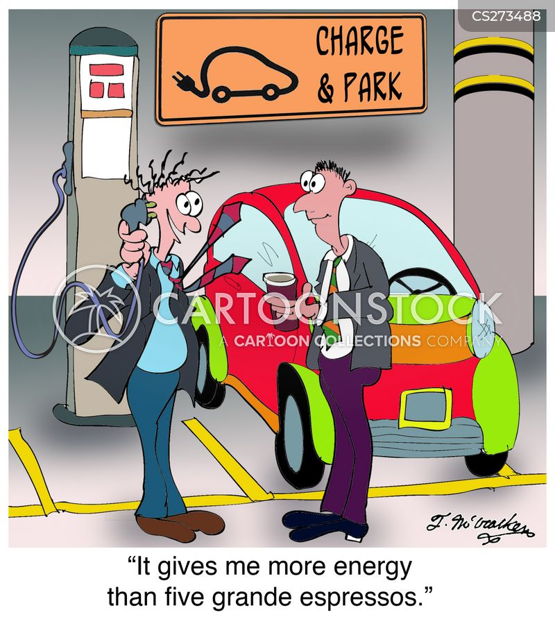 electric charging station cartoon