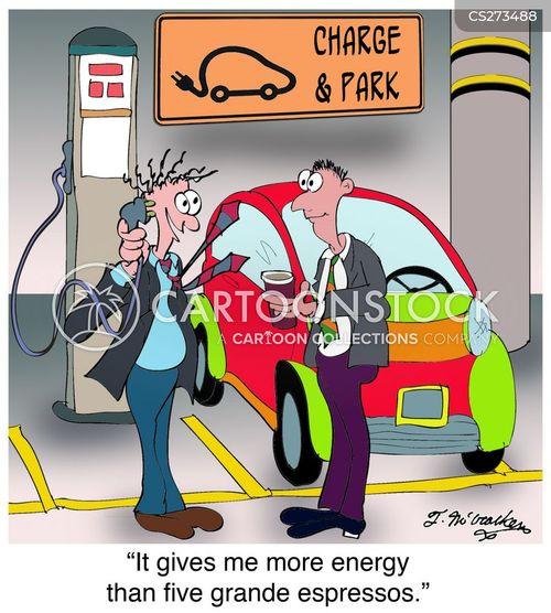 charging station cartoon