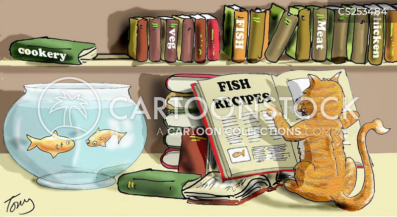fish recipes cartoon