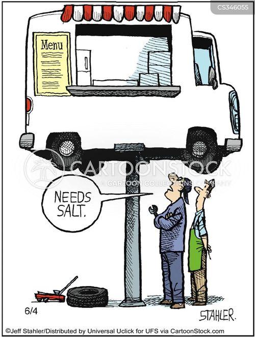 catering truck cartoon