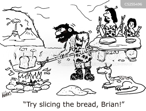 sliced bread cartoon