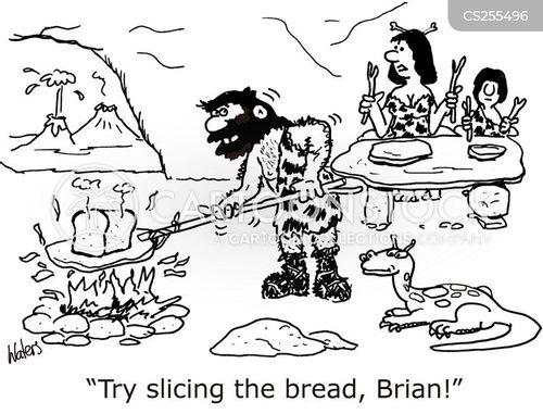 sliced breads cartoon