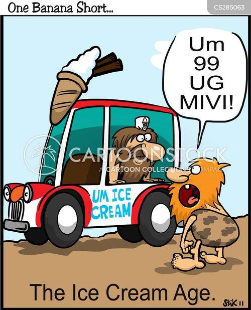 ice cream men cartoon