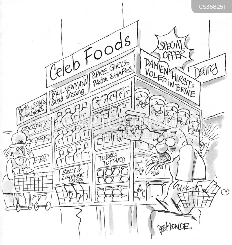 celebrity foods cartoon