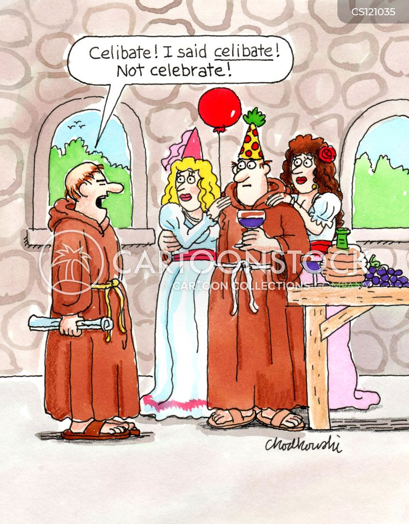 celibate cartoon