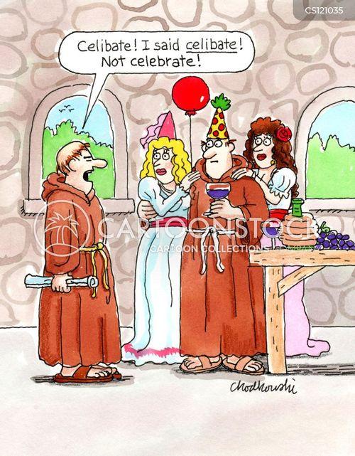 celibacy cartoon