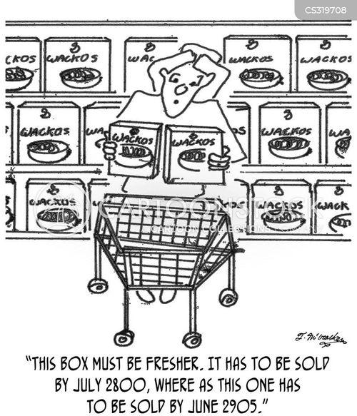 food processing cartoon