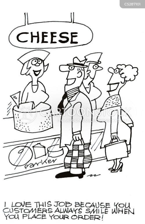 cheese counters cartoon