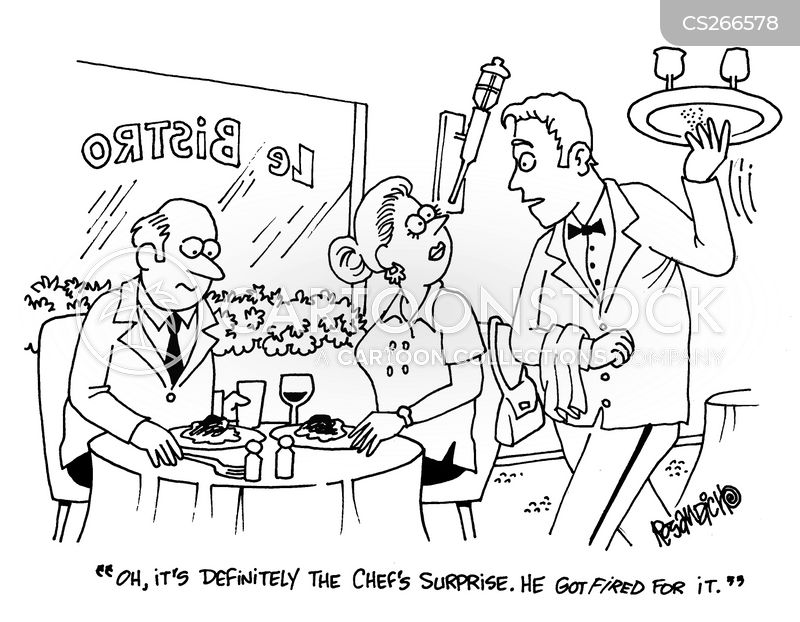 table servie cartoon