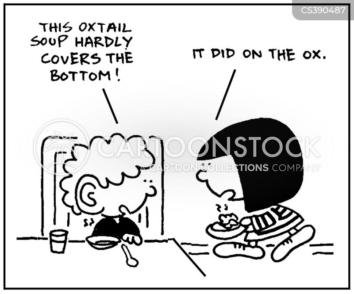 oxtails cartoon