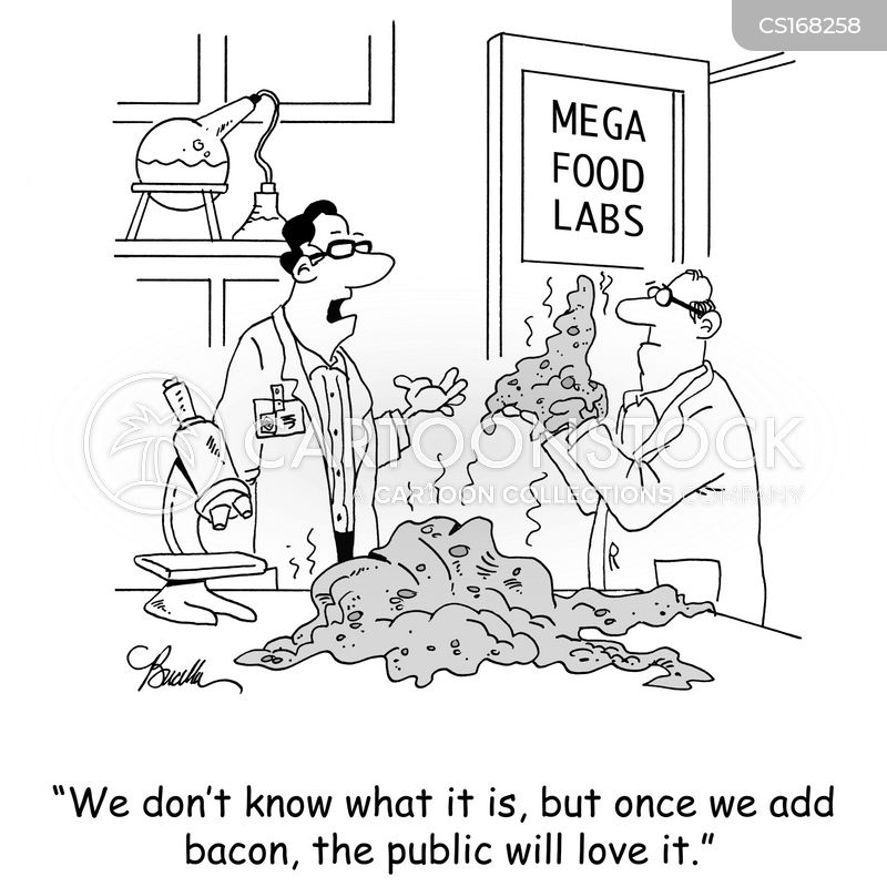 junk foods cartoon