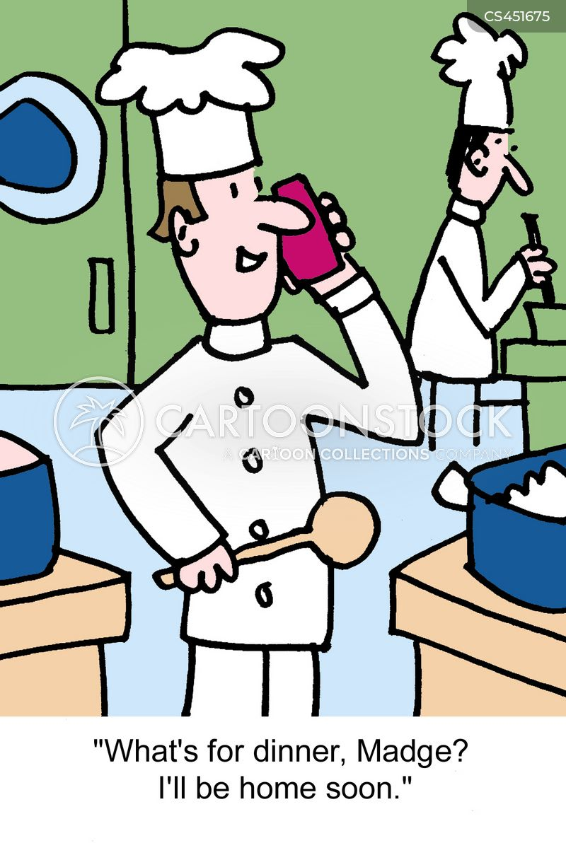 professional cooks cartoon