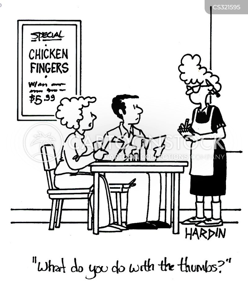 chicken finger cartoon