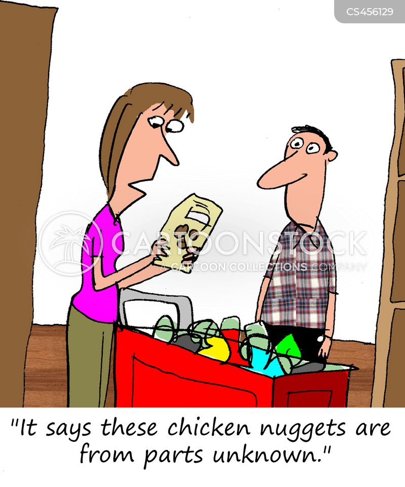 chicken nuggets cartoon