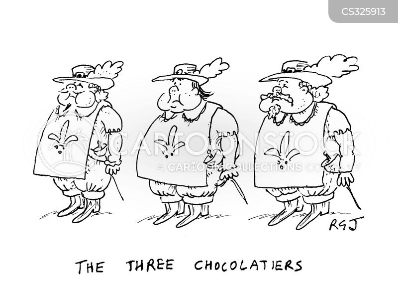 three muskateers cartoon