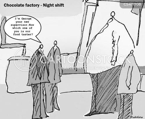 food testers cartoon