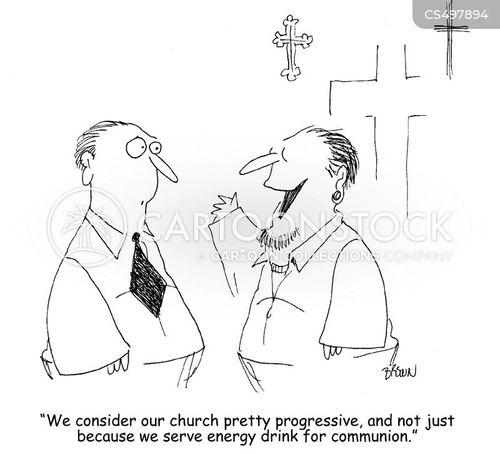 the eucharist cartoon