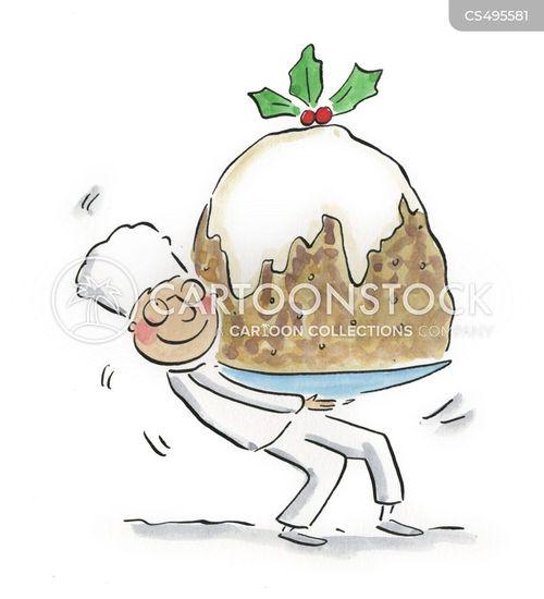 christmas food cartoon