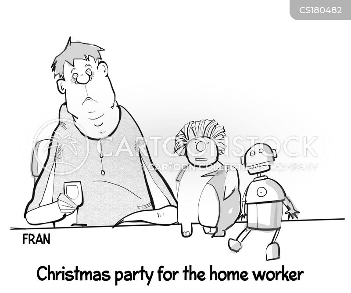 office party cartoon