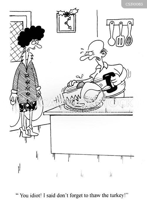 frozen turkey cartoon