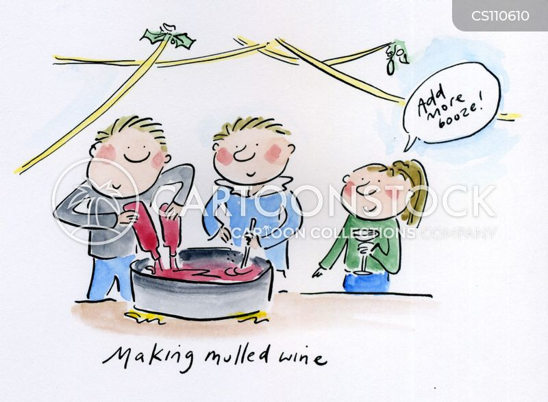 mulled wines cartoon