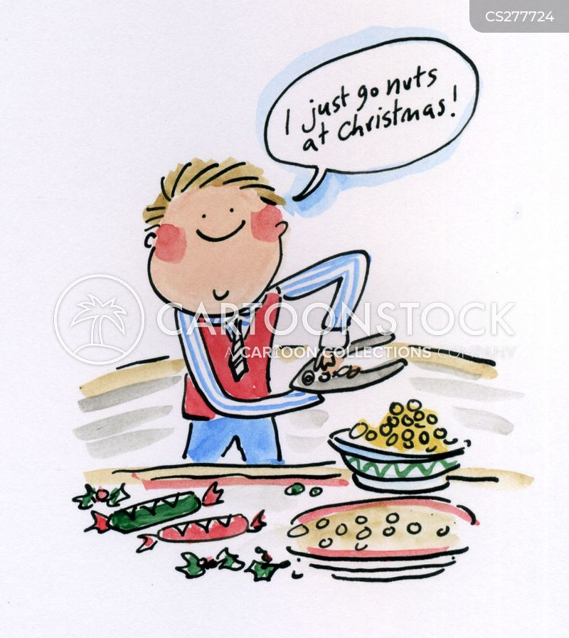 I Just Go Nuts At Christmas.Go Nuts Cartoons And Comics Funny Pictures From Cartoonstock