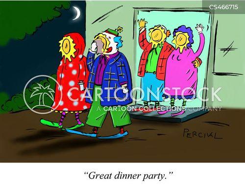 evening out cartoon