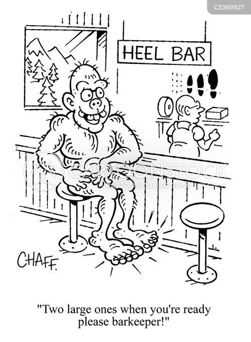 barefoot cartoon