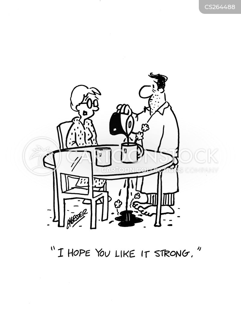 strong coffees cartoon