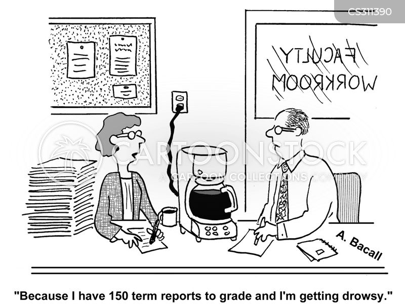 term papers cartoon