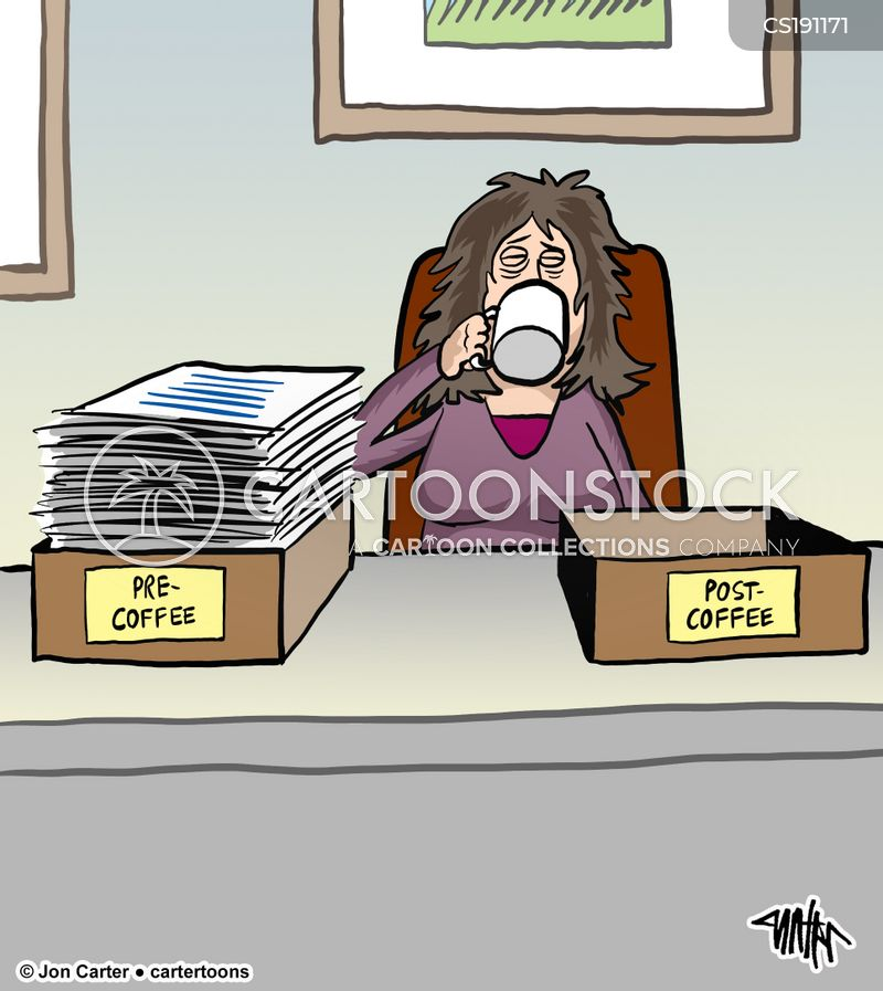 caffeine addicts cartoon