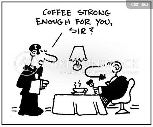strong coffee cartoon