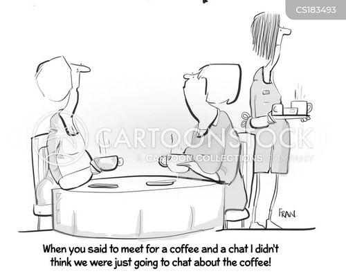 personal conversation cartoon