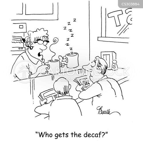 decaffeinated coffee cartoon