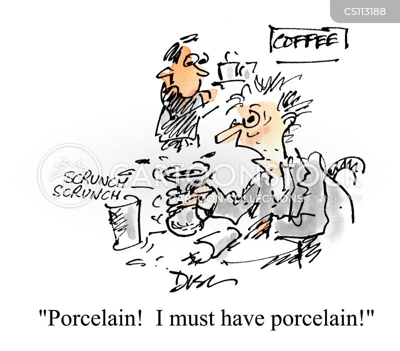 porcelain cartoon