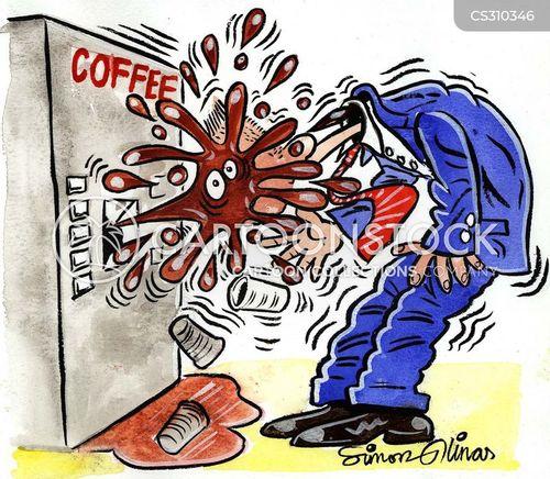 coffee addiction cartoon