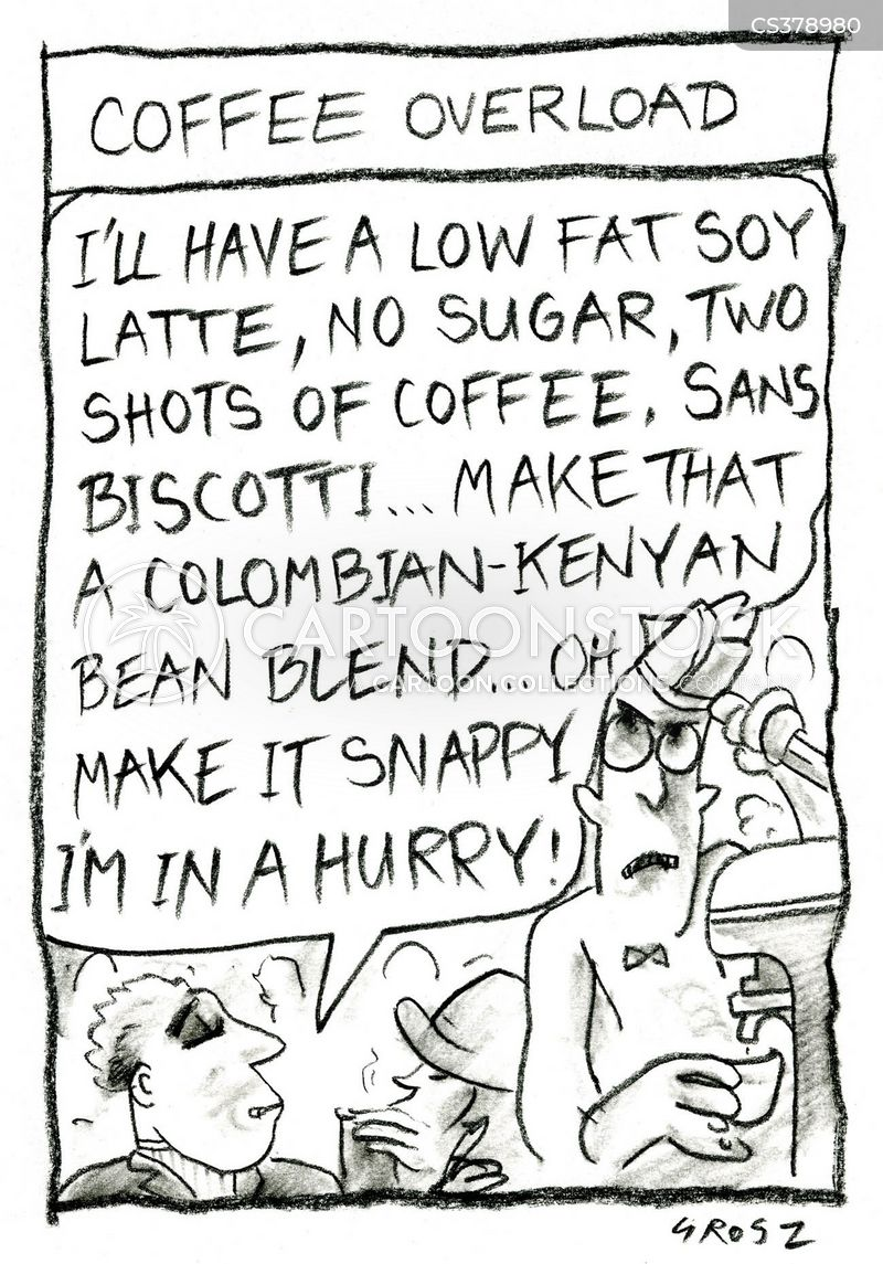 coffee overload cartoon