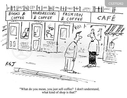 fashion and coffee cartoon