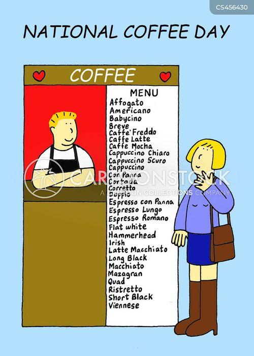 coffee bar cartoon
