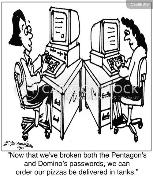 delivery person cartoon