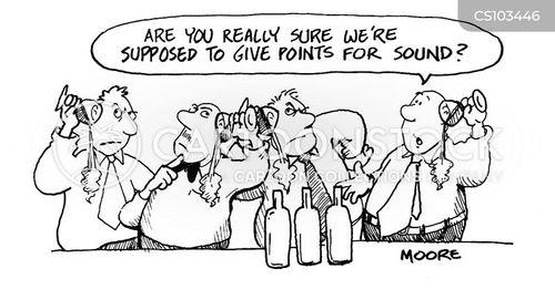 wine-tasting cartoon