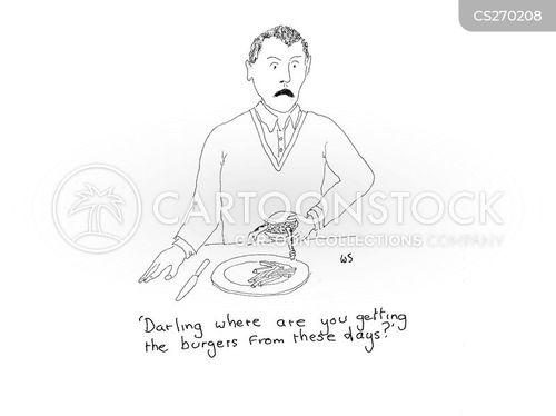 beef burger cartoon