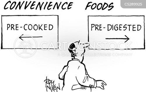 pre-cooked cartoon