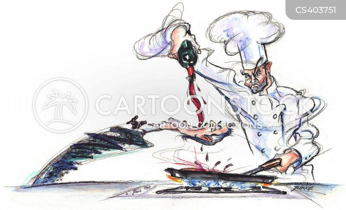 restaurant kitchen cartoon