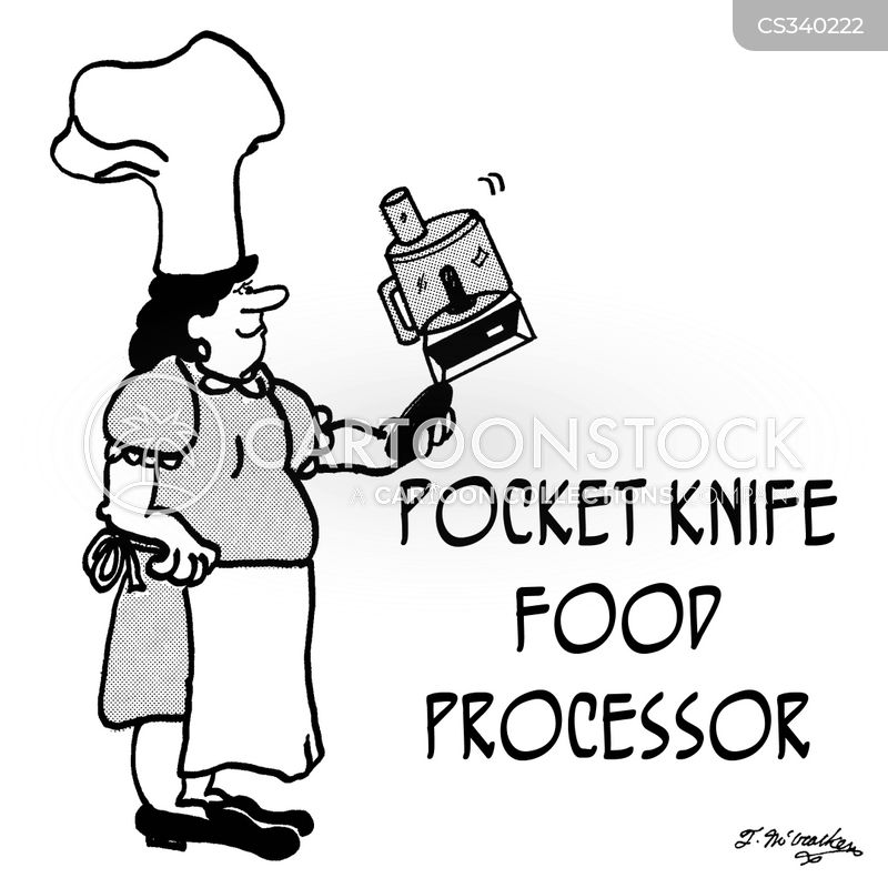 food processors cartoon