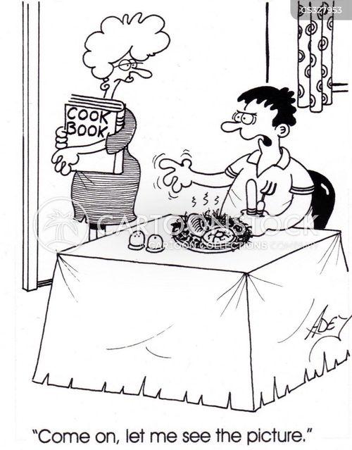 cookery books cartoon