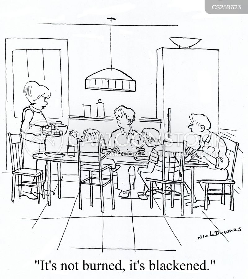 blackened cartoon